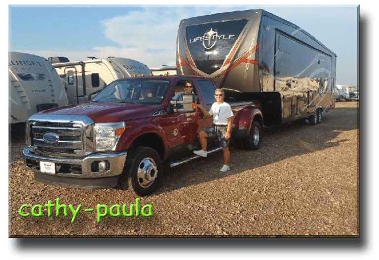 Cathy & Paula DescriptionHi we are Cathy & Paula and we are the proud owners of a new LS37CKLS. We have been in it for 2 weeks now. We moved from a diesel pusher to this 5th wheel. We have been looking at 5th wheels for a while now but it has been hard to find something that has as much inside storage as our dutchstar.