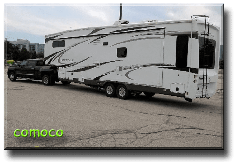 Comoco - Todd, and Hilary Description2013 Lifestyle 36FWS ordered new in April 2013. 2015 GMC Denali 3500HD DRW D/A bought new in June 2015. Travel the US northeast, Ontario and Quebec for 4-5 weeks per year as we are working - trying to fund our retirement!