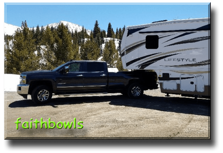 FaithBowls - Joe and Bianca DescriptionHi, Joe here. Here\'s our 2016 Lifestyle ls32rl and 2016 Chevy 3500hd 1 ton srw. We call the truck Bernie (short for Bernadette) and call the trailer Home. We\'re full timing newlyweds. Bought the rig in March 2016 and did 10,000 miles around the west - CA, NV, UT, AZ, NM, CO, WY, ID, OR. Then after a month of work back in CA, we took the long drive up the coast and through Canada to Alaska. Just pulled out of Valdez, AK yesterday. Now slowly going back to the lower 48. We\'re planning to settle in the redwoods of Northern California.