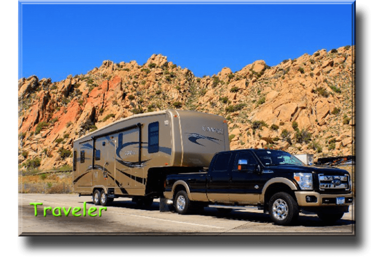 Traveler - Jim St. Onge Description 2011 34SB3 Cameo-Tan Full Body Paint with Black Graphics. 2014 F350 King Ranch Travel about 6 months each year